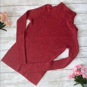 Lands End Merino Wool Long Sleeve Sweater Top